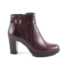 Ghete Benvenuti Women's boots Benvenuti claret leather with high heel 808dg5093bo