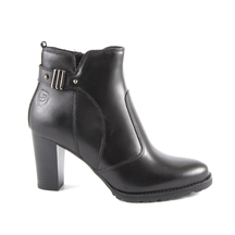 Ghete Benvenuti Women's boots Benvenuti blackleather with medium heel 808dg6360n