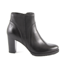 Ghete Benvenuti Women's boots Benvenuti blackleather with medium heel 808dg6367n