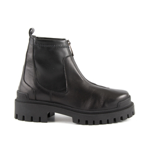 Ghete Benvenuti Benvenuti women's ankle boots in black leather with elastic collar and front zipper 900DG262N