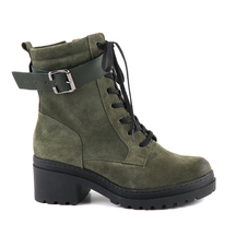 Ghete Benvenuti Women's boots Benvenuti green suede leather 2728dg9209vv