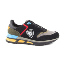 Blauer Blauer men's black sneakers with colorful details 1490BPHIL01VN