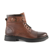 Ghete Enzo Bertini Enzo Bertini men's boots in brown leather with deco buckle 2090BG2416M