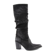 Cizme Enzo Bertini Women's boots Enzo Bertini black suede leather with medium heel 3138dc502vn