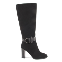 Cizme Enzo Bertini Enzo Bertini women's boots in black suede with high heels 1120dc1868vn
