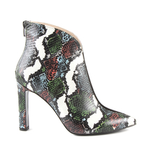 Ghete Enzo Bertini Women's boots Enzo Bertini snake print multicolor leather with high heel 1368dg4065smu