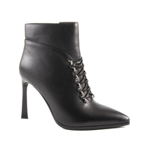 Ghete Enzo Bertini Enzo Bertini Women's Ankle Boots with high heel in black napa leather 1120DG8952N