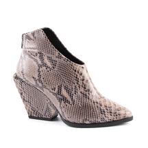 Ghete Enzo Bertini Women's boots Enzo Bertini snake print leather with high heel 2798dg2700sbe
