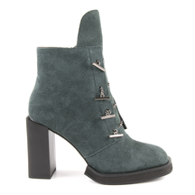 Ghete Enzo Bertini Women's boots Enzo Bertini green suede leather with high heel 1128dg1110vv