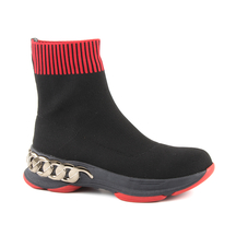 Ghete Enzo Bertini Enzo Bertini Women's High Top Sneakers in black & red knitted 1120DG1169N