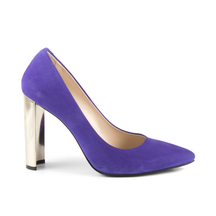 Pantofi Enzo Bertini Women's shoes Enzo Bertini purple suede leather with high heel 1368dp4041vmo