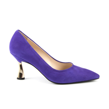 Pantofi Enzo Bertini Women's shoes Enzo Bertini purple suede leather with medium heel 1368dp4013vmo