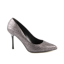 Pantofi Enzo Bertini Enzo Bertini Women's Stiletto Pumps in metallic grey printed leather 1890DP1797CF