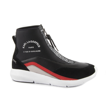 Ghete KARL LAGERFELD Karl Lagerfeld women's high top boots black and red 2050DG61151N