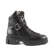 Ghete LUCA DI GIOIA Luca di Gioia women's combat boots in black leather with buckle 1730DG20500N