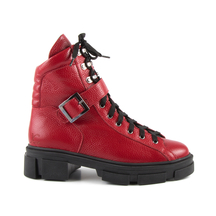Ghete LUCA DI GIOIA Luca di Gioia women's ankle boots in red leather with buckle 1730DG20500R
