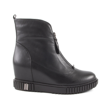 Ghete LUCA DI GIOIA Luca di Gioia women's ankle boots in black leather with platform 1150DG1965N