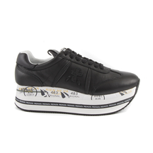 Pantofi Premiata Premiata Beth Women's Trainers in black napa leather 1690DP4039N
