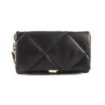 Posete Steve Madden Steve Madden Women's Pouch Quilted Bag in black faux leather 1460POSSCOBBLEN