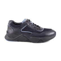 Pantofi Thezeus Men's shoes Thezeus blue leather 2108bp2203bl