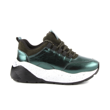 Pantofi Thezeus Women's shoes Thezeus green leather 2318dp3412v